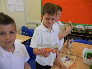 Year 4 pupils not quite satisfied with their scrapheap toy car