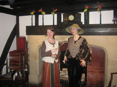 Anneliese and I by the fireside in Jacob's Well